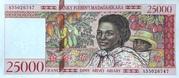 25000 Francs / 5000 Ariary (1998) – avers