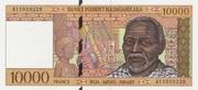 10000 Francs / 2000 Ariary (1995) – avers
