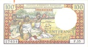 100 Francs / 20 Ariary (1964) – avers