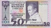50 Francs / 10 Ariary (1974) – avers