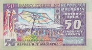 50 Francs / 10 Ariary (1974) – revers