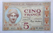 5 Francs (1926) – avers