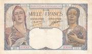 1000 Francs (1933) – avers