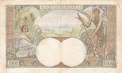 1000 Francs (1933) – revers