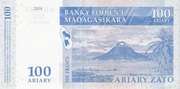 100 Ariary / 500 Francs (2004) – revers