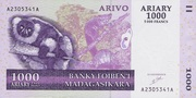 1000 Ariary / 5000 Francs (2004) – avers