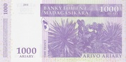 1000 Ariary / 5000 Francs (2004) – revers