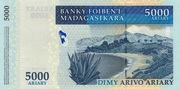 """5000 Ariary """"Madagascar Action Plan"""" – revers"""