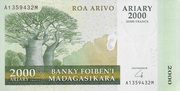 2000 Ariary / 10000 Francs 2007 – avers
