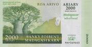 "2000 Ariary ""Madagascar Action Plan"" – avers"