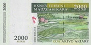 """2000 Ariary """"Madagascar Action Plan"""" – revers"""