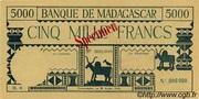 5000 Francs typre 1942 – avers