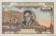 """1000 Francs """"Tsiranana"""" 1962 – avers"""