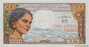 500 Francs / 100 Ariary 1964 – avers