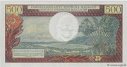 500 Francs / 100 Ariary 1964 – revers