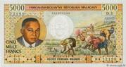 """5000 Francs / 1000 Ariary """"Tsiranana"""" type 1966 – avers"""