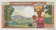 """5000 Francs / 1000 Ariary """"Tsiranana"""" type 1966 – revers"""