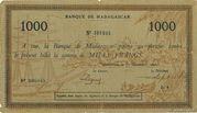 """1000 Francs type """"Local"""" 1941 – avers"""