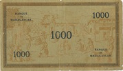 """1000 Francs type """"Local"""" 1941 – revers"""