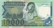10000 Francs / 2000 Ariary 1983 – avers