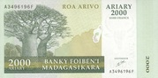 2000 Ariary / 10000 Francs 2003 – avers