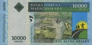 10000 Ariary / 50000 Francs 2007 – revers