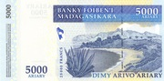 5000 Ariary/ 25000 Francs 2006 – revers