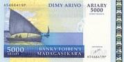 5000 Ariary/ 25000 Francs 2006 – avers