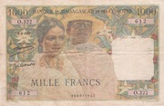 1000 Francs Type 1950 – avers