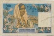500 Francs Type 1950 – revers