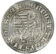 1 Groschen - Ernst von Sachsen – avers