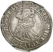 ½ Guldengroschen - Albrecht IV. von Brandenburg – avers
