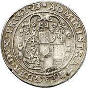 ½ Thaler - Joachim Friedrich von Brandenburg – revers
