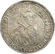 1 Thaler - Christian Wilhelm von Brandenburg – avers