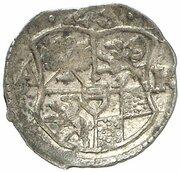 1 Pfennig - Christian Wilhelm von Brandenburg – avers