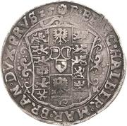 ½ Thaler - Christian Wilhelm von Brandenburg – revers