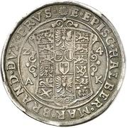 1 Thaler - Christian Wilhelm von Brandenburg – revers