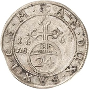 1/24 Thaler - August von Sachsen-Weissenfels – revers