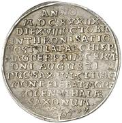 1 Thaler - August von Sachsen-Weissenfels Enthronement – avers