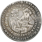 ½ Thaler (100 years of the reformation) – revers