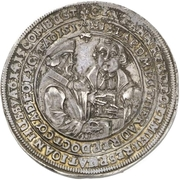 2 Thaler (100 years of reformation) – revers