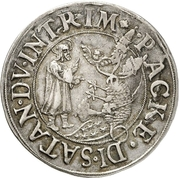 1 Thaler (Augsburg Interim) – avers