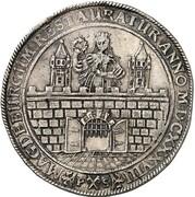 1 thaler (reconstruction de la ville) – avers