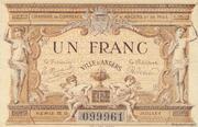1 franc - Chambre de Commerce d'Angers et du Maine-et-Loire [49] – avers