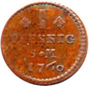 1 Pfennig - Johann Friedrich Karl – revers