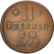 2 pfennig – revers