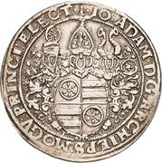 1 Thaler - Johann Adam von Bicken (Bettlertaler) – avers