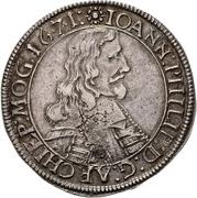 60 Kreuzer - Johann Philipp von Schönborn (Sortengulden) – avers