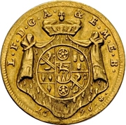1 Ducat - Lothar Franz von Schönborn (Peace treaty of Ryswick) – avers