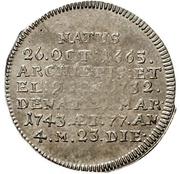1 Groschen - Philipp Karl von Eltz-Kempenich (Death; Sterbegroschen) – revers